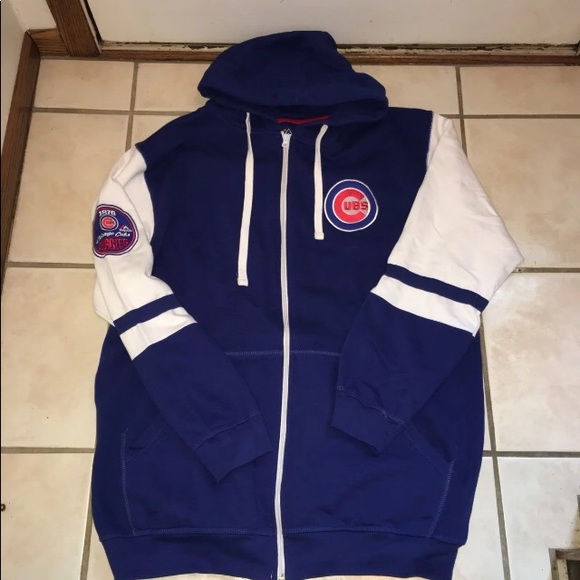 free shipping 93de4 6732c Majestic Chicago Cubs Hoodie Coat XLT